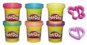 Play-Doh ciastolina tuby 6-pack błyszczące A5417