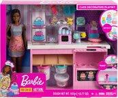Barbie Pracownia wypieków zestaw + lalka GFP59