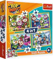 Puzzle 4w1 Top Wing. Ptasia Akademia 34342 Trefl
