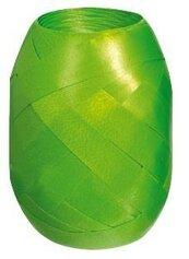 Wstążka kłębuszek 20m/10mm matowa zielona