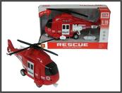 Helikopter plast.ratunkowy 28cm św dźw w pud. WY750B