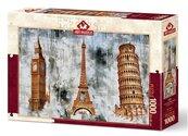 Puzzle 1000 Trzy miasta - Trzy wieże