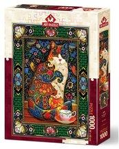 Puzzle 1000 Królewski kot