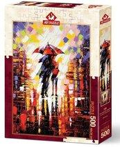Puzzle 500 Zakochani pod parasolem