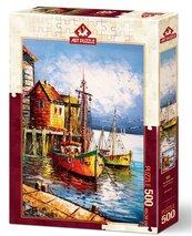 Puzzle 500 Pomarańczowy port
