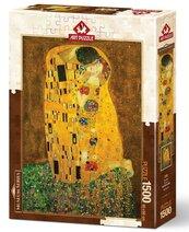 Puzzle 1500 Gustav Klimt, Pocałunek