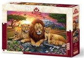 Puzzle 1000 Afryka, Rodzina lwów