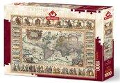 Puzzle 1000 Antyczna mapa Świata