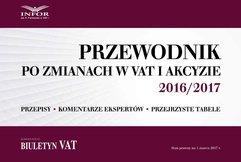 Przewodnik po zmianach w VAT i akcyzie 2016/2017