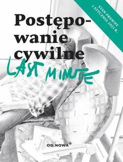 Last Minute postępowanie cywilne maj 2021