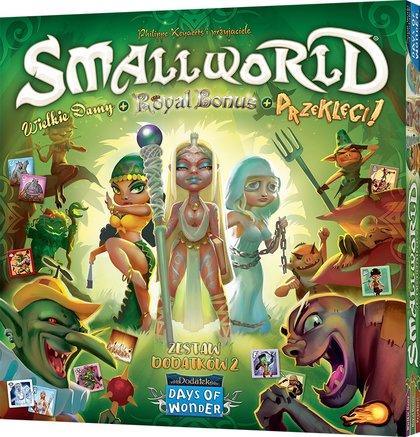 Small World: Zestaw dodatków 2 - Wielkie damy + Royal Bonus + Przeklęci! (Gra Karciana)