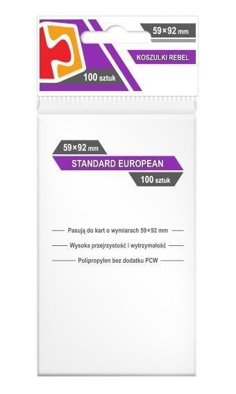 Koszulki Standard European 59x92 (100szt) REBEL