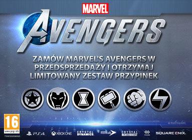 Marvel's Avengers Limitowany Zestaw Przypinek