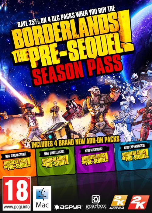 Borderlands The Pre-Sequel Season Pass (MAC) Klucz Steam