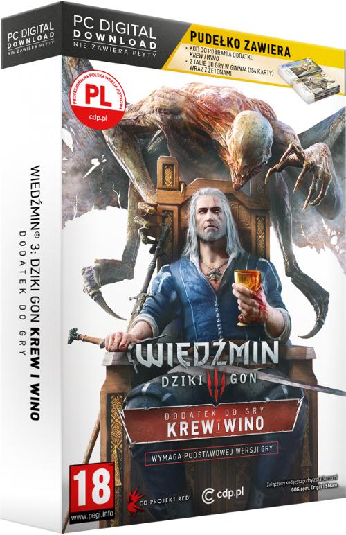 Wiedźmin III: Dziki Gon - Krew i wino Edycja Limitowana (PC) PL