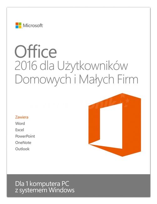 Office 2016 dla Użytkowników domowych i Małych firm (PC) DIGITAL
