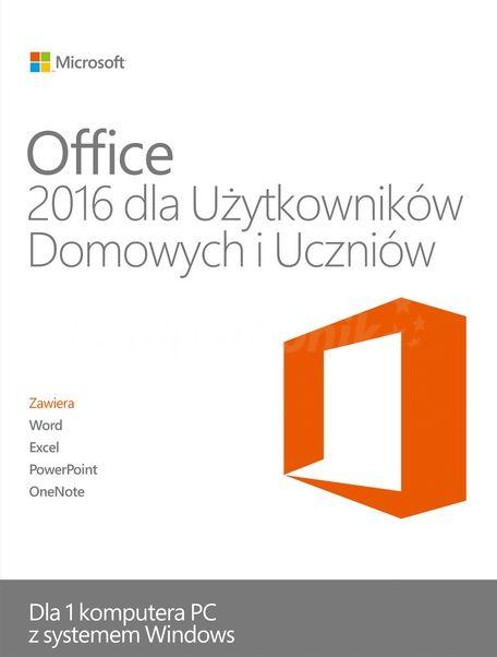 Office 2016 dla Użytkowników domowych i Uczniów (PC) DIGITAL