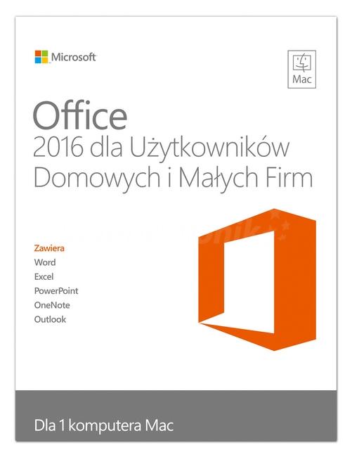 Office 2016 dla Użytkowników domowych i Małych firm (MAC) DIGITAL