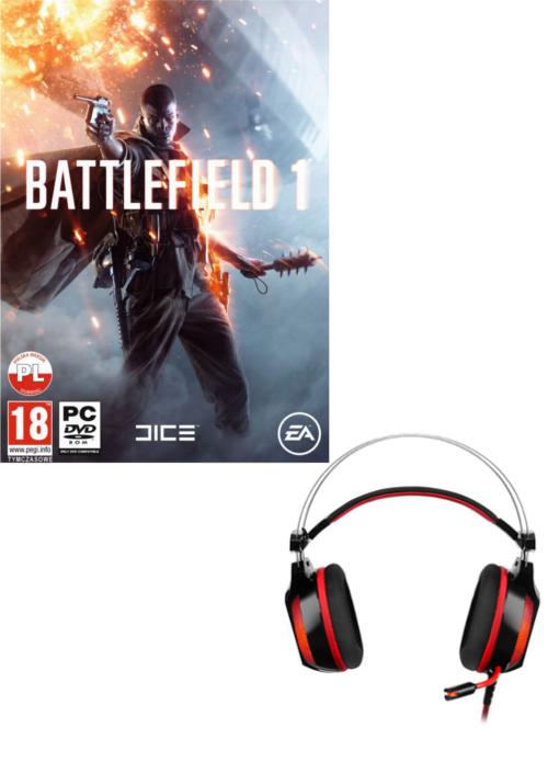 Battlefield 1 + Słuchawki RAVCORE Dynamite 7.1