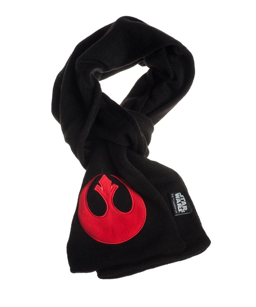 STAR WARS Czarny szalik z czerwonym emblematem rebeliantów + kubek Space Invaders