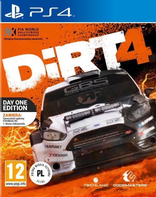 DiRT 4 - Edycja Day One Edition (PS4) PL + NASZYWKA!