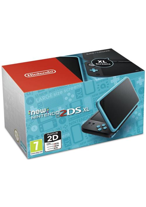 Konsola New Nintendo 2DS XL Black & Turquoise (3DS)