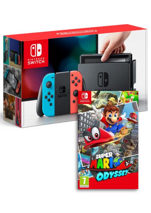 Konsola Nintendo Switch Red&Blue + Super Mario Odyssey