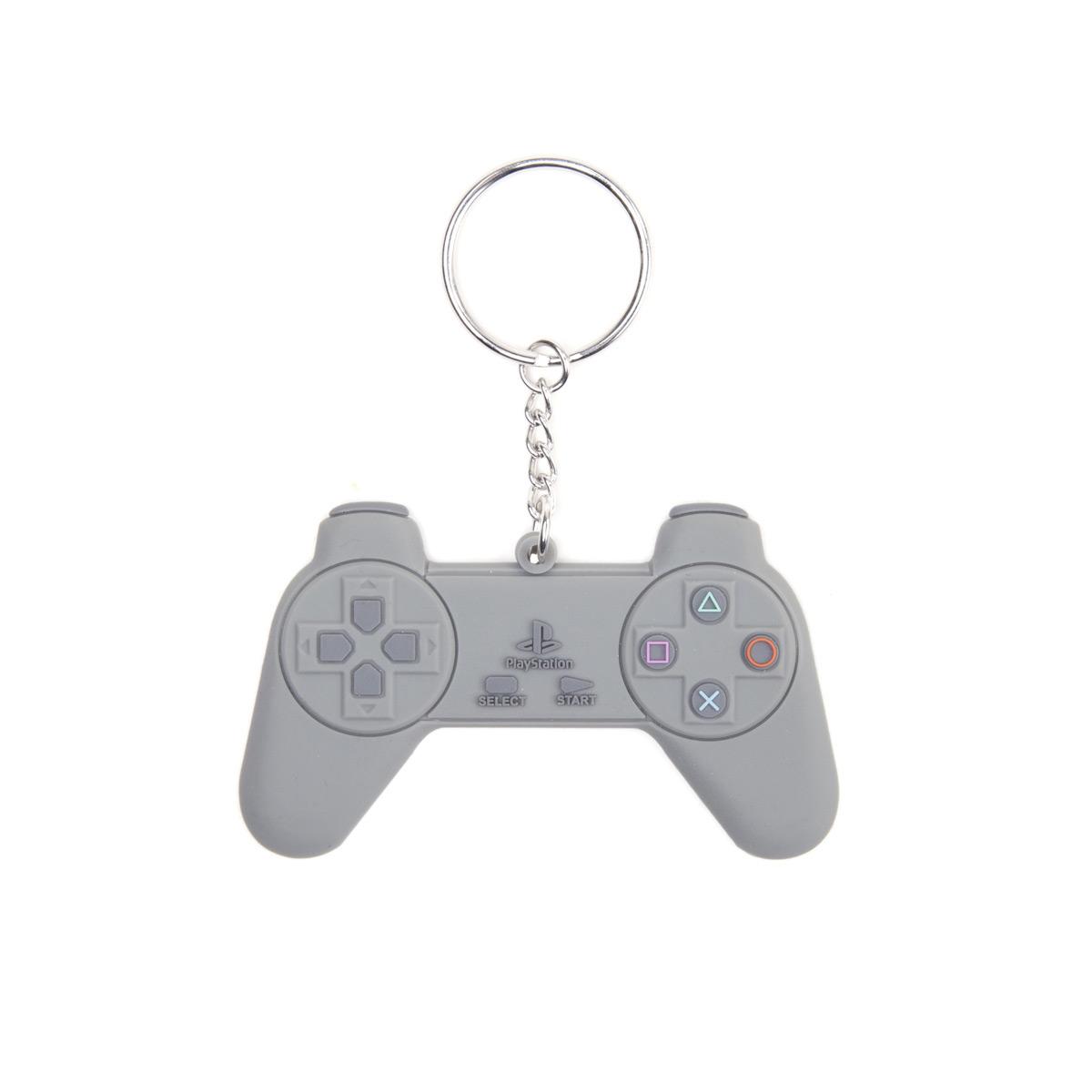 Brelok Playstation - Grey Controller Rubber Keychain