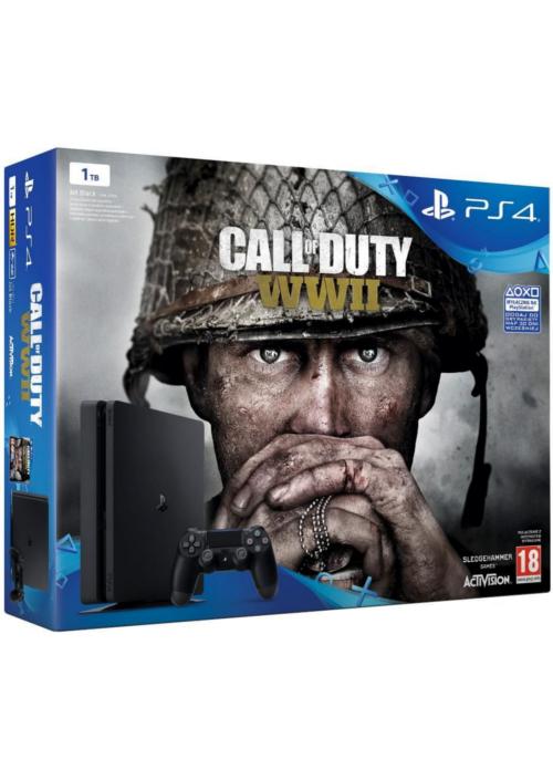 Konsola PlayStation 4 Slim 1TB + Call of Duty: WWII
