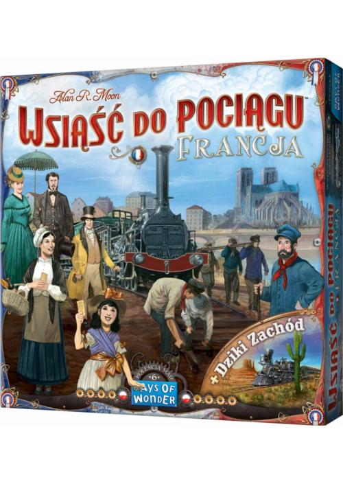Wsiąść do Pociągu: Francja i Dziki Zachód (Gra Planszowa)