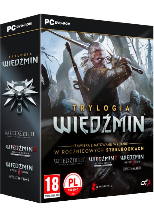 Wiedźmin Trylogia - Edycja 10-lecia + Steelbooki (PC) PL
