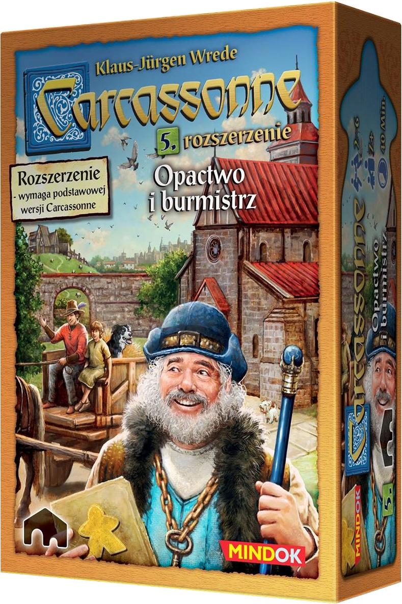 Carcassonne: Opactwo i Burmistrz (druga edycja polska) (Gra Planszowa)