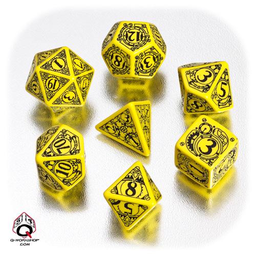 Komplet Steampunk - Żółto-czarny