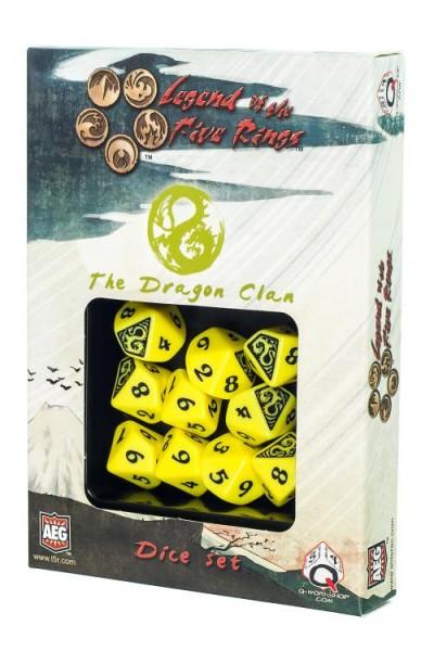 Komplet kości Legenda 5 Kręgów: The Dragon Clan (Klan Smoka)