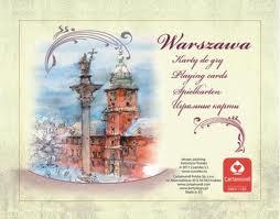 Karty Warszawa akwarele 2 talie
