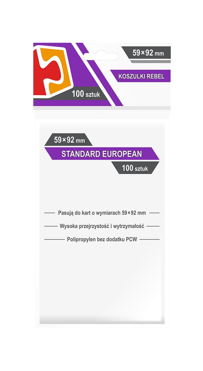 "Koszulki na karty Rebel (59x92 mm) ""Standard European"", 100 sztuk"
