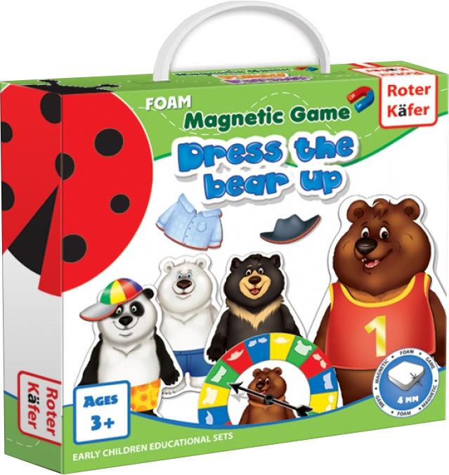Ubierz Misia (Dress a Bear Up) - Gra Magnetyczna (Gra rodzinna)