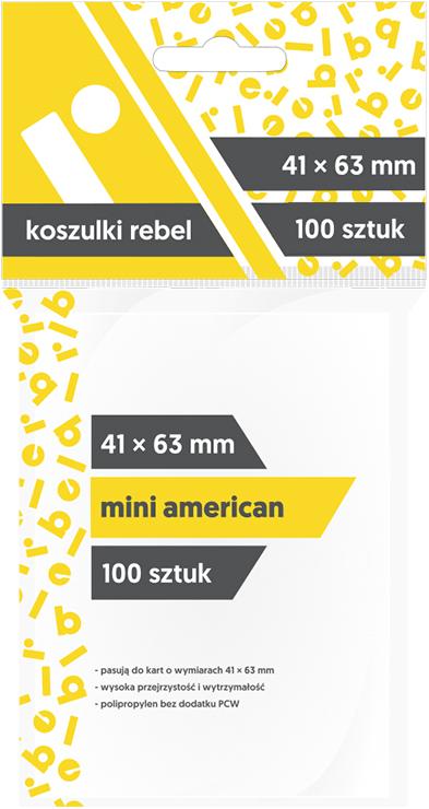 "Koszulki na karty Rebel (41x63 mm) ""Mini American"", 100 sztuk"