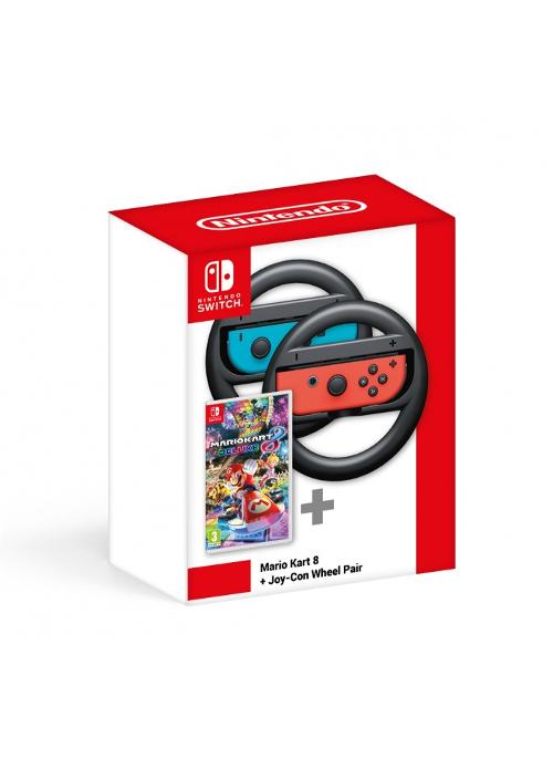 Mario Kart 8 Deluxe + Joy-Con Wheel Pair (Switch)