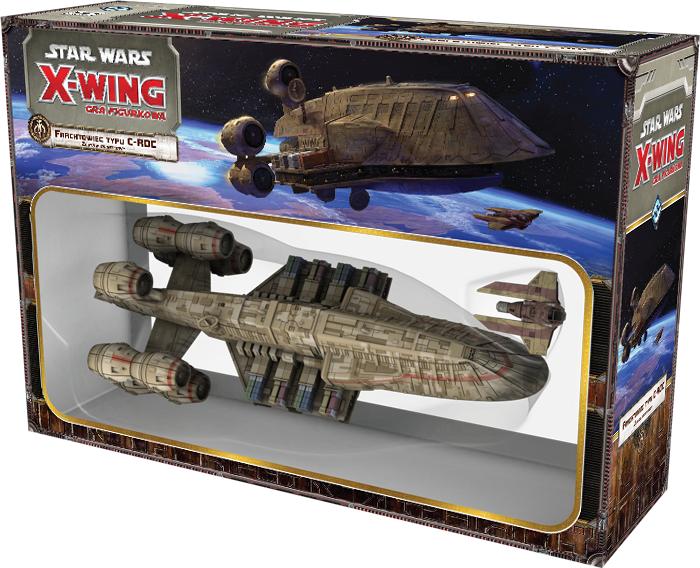 X-Wing: Zestaw Dodatkowy - Frachtowiec C-ROC (Gra figurkowa)