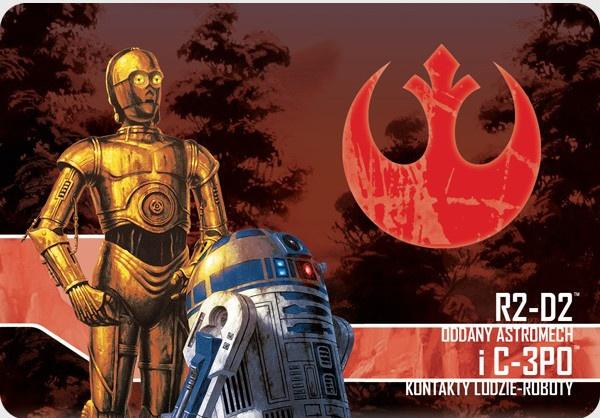 Star Wars: Imperium Atakuje - R2-D2, Oddany astromech i C3PO, Kontakty ludzie-roboty (Gra planszowa)