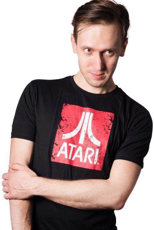 Atari Logo koszulka czarna - S + kubek Space Invaders
