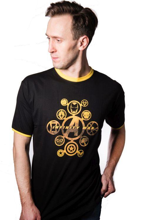 Marvel Infinity War Badges  koszulka  - L