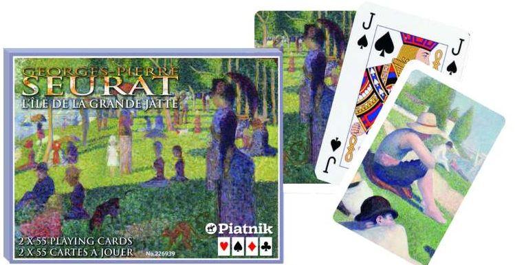 Karty Piatnik 2 talie - Seurat - Grande Jatte (karty klasyczne)