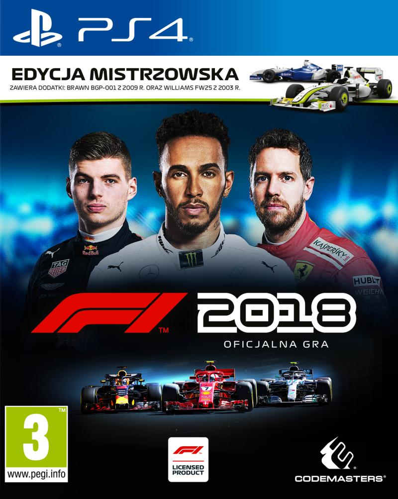 F1 2018 Edycja Mistrzowska (PS4) PL + BONUSY!