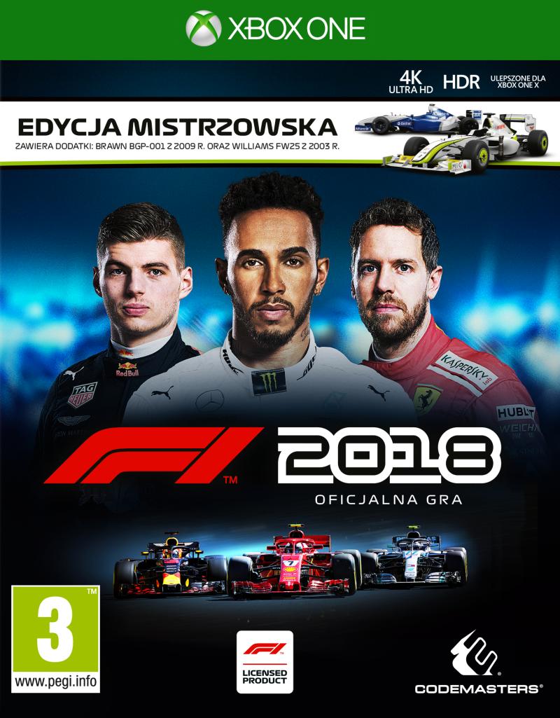 F1 2018 Edycja Mistrzowska (XOne) PL + BONUSY!