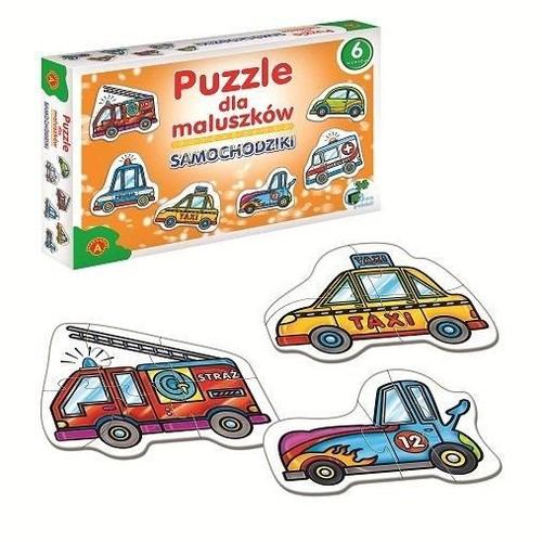 Puzzle dla maluszków Samochodziki