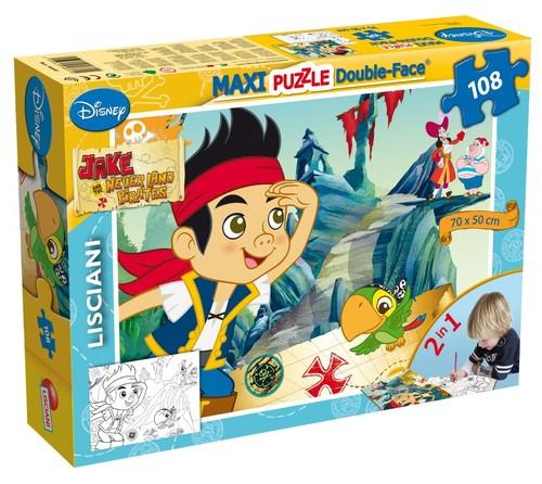 Puzzle dwustronne Maxi 108 Jake i piraci z Nibylandii