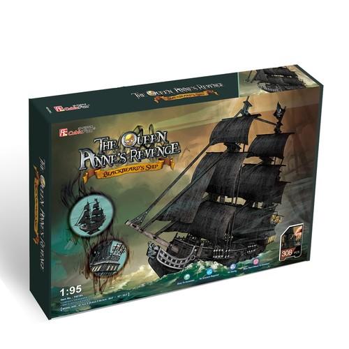 Puzzle 3D Żaglowiec Queen Anne's Revenge 308