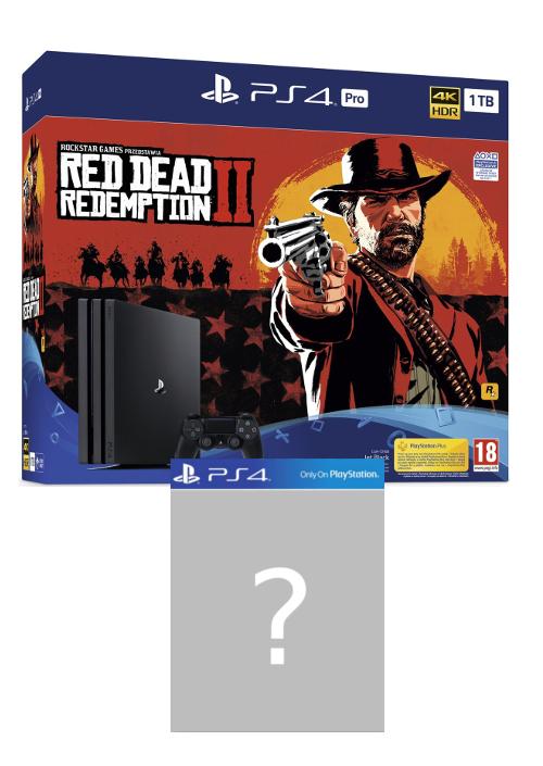 Konsola PlayStation 4 Pro 1TB (nowy model) + Red Dead Redemption 2 + PS Plus 14 dni + gra-niespodzianka